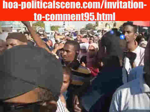 hoa-politicalscene.com/invitation-to-comment95.html: Invitation to Comment 95: The signatory powers of the Declaration of Freedom and change. القوى الموقعة على إعلان الحرية والتغيير. Sudanese Intifada in January 2019.