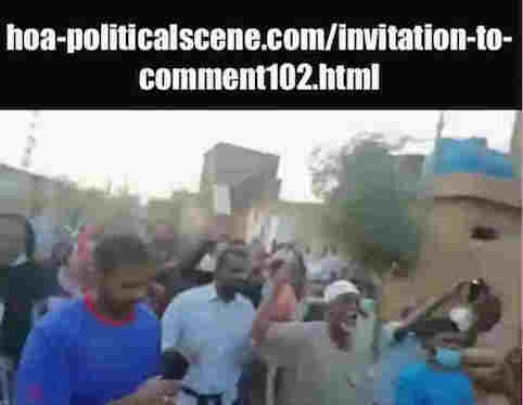 hoa-politicalscene.com/invitation-to-comment102.html: Invitation to Comment 102: Sudanese interior intifada, January 2019.
