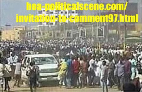 hoa-politicalscene.com/invitation-to-comment97.html: Invitation to Comment 97: About the Sudanese uprising from December 2018 to January 2019! حول الثورة السودانية الممتدة من ديسمبر ٢٠١٨م الي يناير ٢٠١٩م.