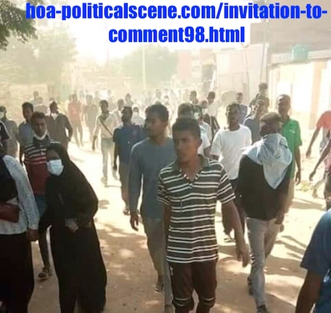 hoa-politicalscene.com/invitation-to-comment98.html: Sudanese prisoners of conscience in context of December 2018-January 2019 revolution! المعتقلون السياسيون السودانيون في إطار ثورة ديسمبر ٢٠١٨م - يناير ٢٠١٩م.