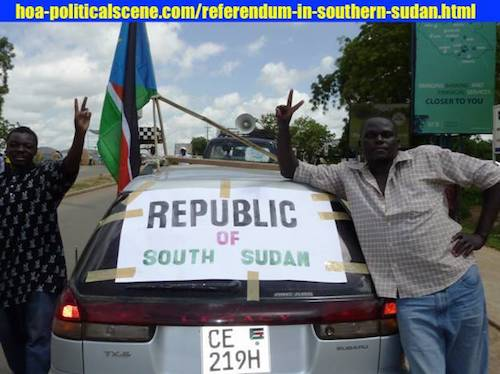 politicalscene.com/referendum-in-southern-sudan.html - Referendum in Southern Sudan: Secession is a stupid thing and now you will learn that you were wrong. No legitimate regime to offer that.
