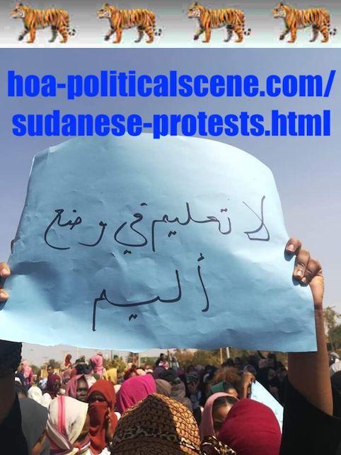 hoa-politicalscene.com/sudanese-protests.html: Sudanese Protests: يوميات الإنتفاضة السودانية في يناير 2019م. Diary of the Sudanese Intifada in January 2019.