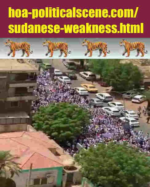 hoa-politicalscene.com/sudanese-weakness.html: Sudanese Weakness: مواطن ضعف سودانية. Revolutionary Ideas. نمو الأفكار الثورية، الثورة السودانية. Sudanese uprising, April 2019.