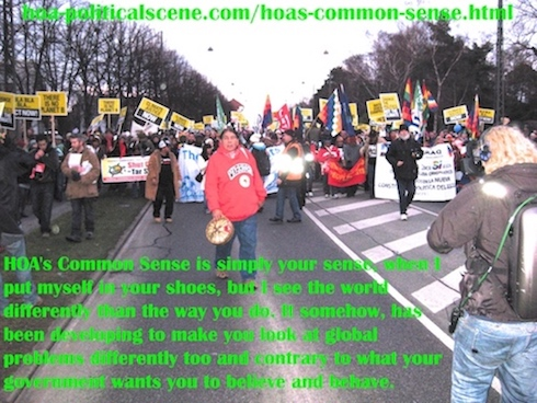 hoa-politicalscene.com/hoas-common-sense.html - HOA's Common Sense: helps you understand global degradation with the LPE illumination it harnesses to solve global problems.