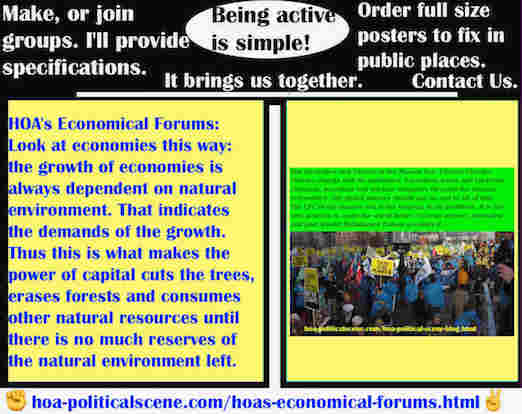 hoa-politicalscene.com/hoas-economical-forums.html - HOA's Economical Forums: The growth of economies is always dependent on natural environment. That indicates the demands of the growth.