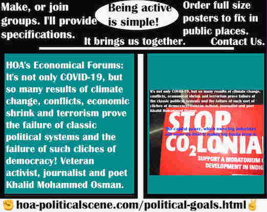 hoa-politicalscene.com/hoas-economical-forums.html - HOA's Economical Forums: It's not only COVID-19, but so many results of climate change, conflicts, economical shrink and terrorism prove failure.