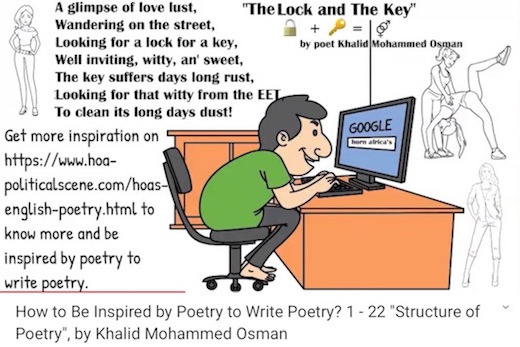 hoa-politicalscene.com/hoas-english-poems.html - HOA's English Poems: The Lock and the Key by poet Khalid Mohammed Osman to inspire your imagination to write aesthetically poems that pump beauties.