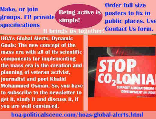 hoa-politicalscene.com/hoas-global-alerts.html - HOA's Global Alerts: Mass era new concept & components to implement mass era, created by activist Khalid Mohammed Osman. ®