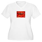 HOA's Poetess Plus Size V-Neck T-Shirt