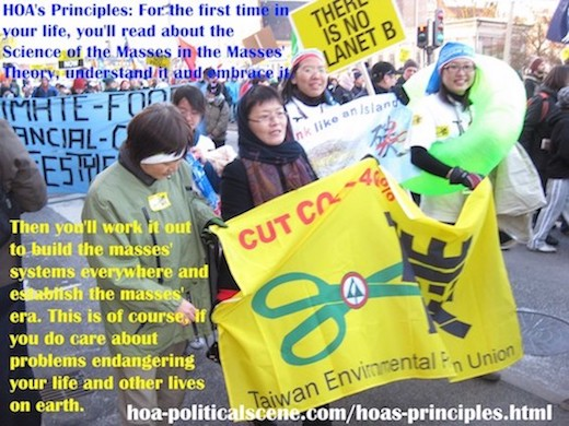 hoa-politicalscene.com/hoas-principles.html - HOA's Principles: For the first time in your life, you'll read about the Science of the Masses in the Masses' Theory, understand it and embrace it.
