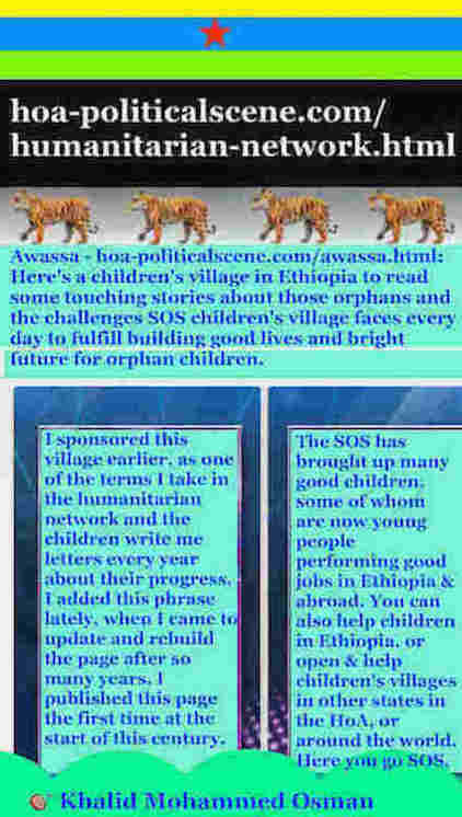 hoa-politicalscene.com/humanitarian-network.html - Humanitarian Network: Khalid Mohammed Osman's English political quote 4: Some leaders in the Horn of Africa control their people by fears.