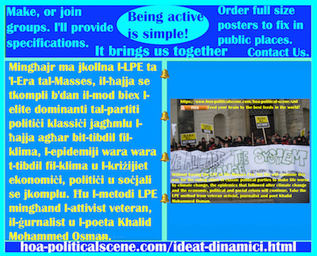 hoa-politicalscene.com/ideat-dinamici.html - Ideat Dinamiċi: Mingħajr ma jkollna l-LPE ta 'l-Era tal-Masses, il-ħajja se tkompli b'dan il-mod biex l-elite dominanti tal-partiti politiċi klassiċi ...