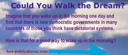 hoa-politicalscene.com - Write About HOA: Quote, Imagine waking up one day to find democracy spreading in HOA. How is that for a good way to wake up in the morning?