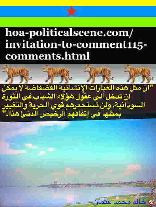 hoa-politicalscene.com/invitation-to-comment115-comments.html: Invitation to Comment 115 Comments: Political agreement between illegitimate Transitional Military Council & Power of Freedom & Change to establish governance structures and institutions in Sudan 43.