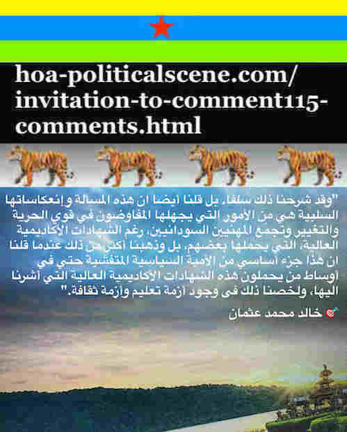 hoa-politicalscene.com/invitation-to-comment115-comments.html: Invitation to Comment 115 Comments: Political agreement between illegitimate Transitional Military Council & Power of Freedom & Change to establish governance structures and institutions in Sudan 76.