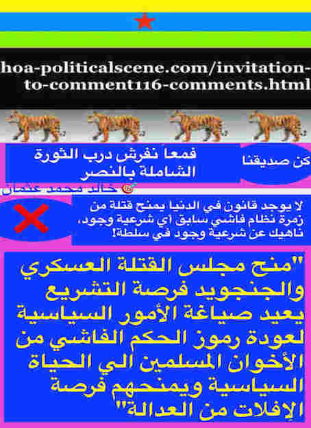hoa-politicalscene.com/invitation-to-comment116-comments.html: Invitation to Comment 116 Comments: Political agreement between illegitimate Transitional Military Council & Power of Freedom & Change to establish governance structures and institutions in Sudan 99.