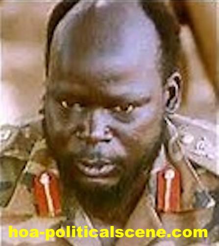 hoa-politicalscene.com/john-garang-to-sadiq-al-mahadi.html - John Garang to Sadiq al Mahadi: Garang in the bush military uniform.