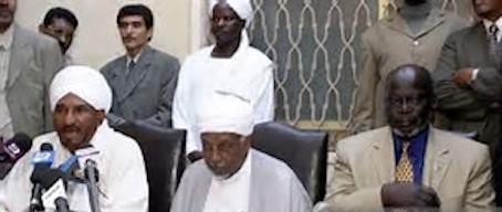hoa-politicalscene.com/john-garang-to-sadiq-al-mahadi.html - John Garang to Sadiq al Mahadi: Garang, Sadiq al-Mehadi & Mohammed Osman al-Merghani. A rebel leader with sectarian leaders.