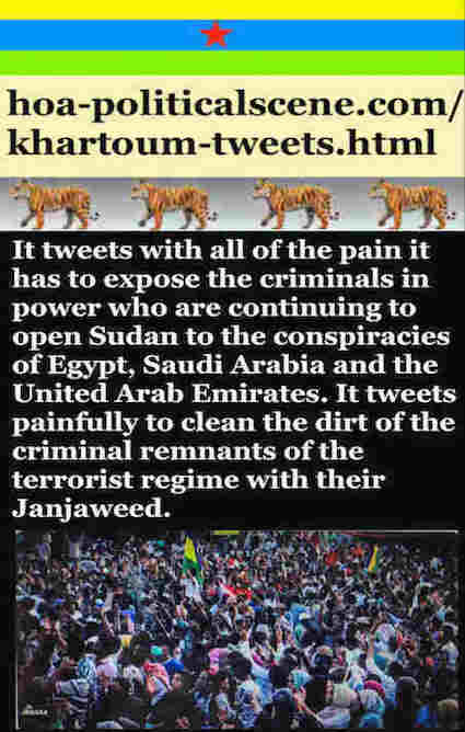 hoa-politicalscene.com/khartoum-tweets.html: Khartoum Tweets: A political quote by Sudanese columnist journalist and political analyst Khalid Mohammed Osman in English 798.