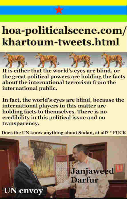 hoa-politicalscene.com/khartoum-tweets.html: Khartoum Tweets: A political quote by Sudanese columnist journalist and political analyst Khalid Mohammed Osman in English 800.
