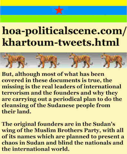 hoa-politicalscene.com/khartoum-tweets.html: Khartoum Tweets: A political quote by Sudanese columnist journalist and political analyst Khalid Mohammed Osman in English 802.
