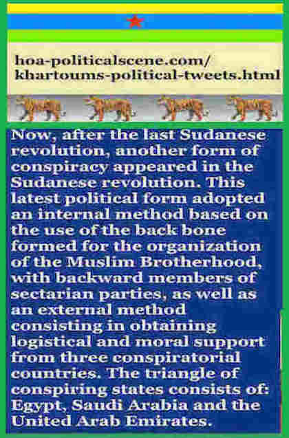 hoa-politicalscene.com/khartoums-political-tweets.html: Khartoum's Political Tweets: A political quote by Sudanese columnist journalist and political analyst Khalid Mohammed Osman in English 791.