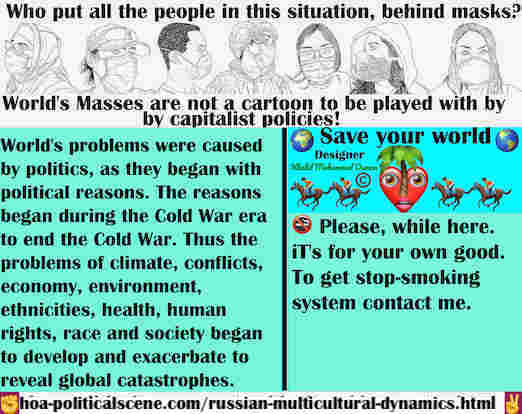 hoa-politicalscene.com/russian-multicultural-dynamics.html - Russian Multicultural Dynamics: World's problems began with political reasons during Cold War era to end it. Thus problems of conflicts...
