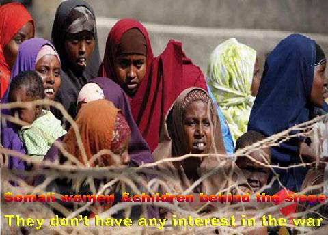Brief history of Somalia: Somali displaced children and women.