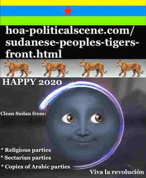 hoa-politicalscene.com/sudanese-nile-tweets.html: Sudanese Nile Tweets: on New Year 2020 by Sudanese columnist journalist and political analyst Khalid Mohammed Osman in English 815.