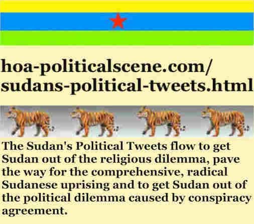 hoa-politicalscene.com/sudans-political-tweets.html: Sudan's Political Tweets: A political quote by Sudanese columnist journalist and political analyst Khalid Mohammed Osman in Arabic 772.