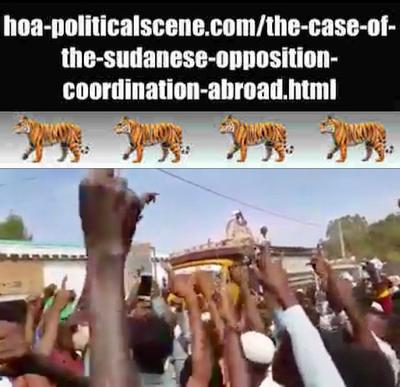 hoa-politicalscene.com/the-case-of-the-sudanese-opposition-coordination-abroad.html: The Case of the Sudanese Opposition Coordination Abroad: Sudanese uprising in January 2019.