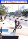 hoa-politicalscene.com/are-you-intellectual145.html / Are You Intellectual 145: Bread crises in Sudan.People protest. Police tears bomb smokes.