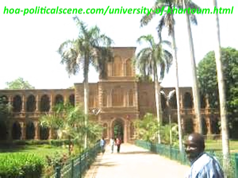 hoa-politicalscene.com/university-of-khartoum.html - University of Khartoum faces planned military religious regime's destruction because it is the fountain of the Sudanese historical uprising.