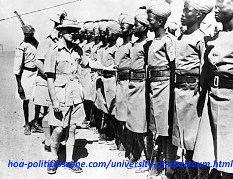 hoa-politicalscene.com/university-of-khartoum.html - University of Khartoum: Sudanese Defence Forces were built from Sudanese during Kitchener time.