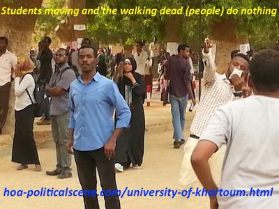 The University of Khartoum students moving and no one from the people supports them.