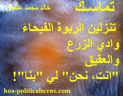 hoa-politicalscene.com: Snippet of poetry from