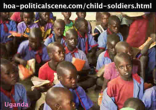 hoa-politicalscene.com/child-soldiers.html - Child Soldiers: and orphan children of Uganda, the Democratic Republic of the Congo & Sudan.