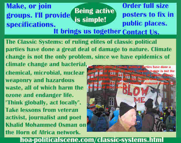 hoa-politicalscene.com/classic-systems.html - Classic Systems: of classic political parties ruling elites have done a great deal of damage to nature. Climate change is not the only problem.