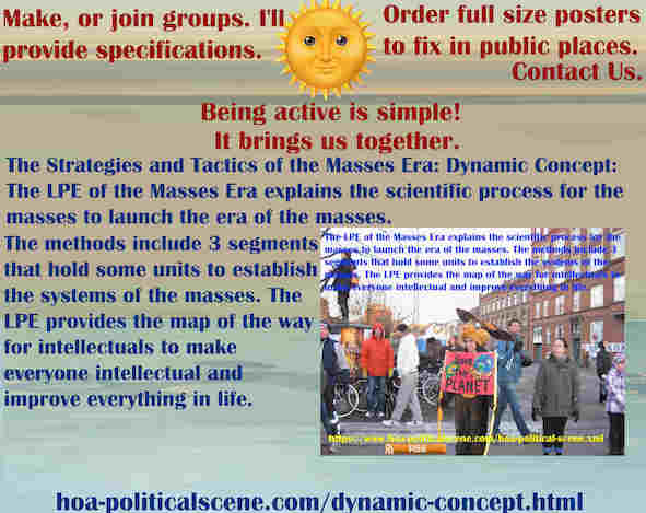 hoa-politicalscene.com/dynamic-concept.html - The Strategies and Tactics of the Masses Era: Dynamic Concept: Masses Era LPE 3 segments has systematical units to establish the systems of the masses.