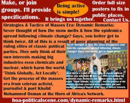hoa-politicalscene.com/dynamic-remarks.html - Strategies & Tactics of Masses Era: Dynamic Remarks: Never thought of how the snow melts & how epidemics spread following climate change?