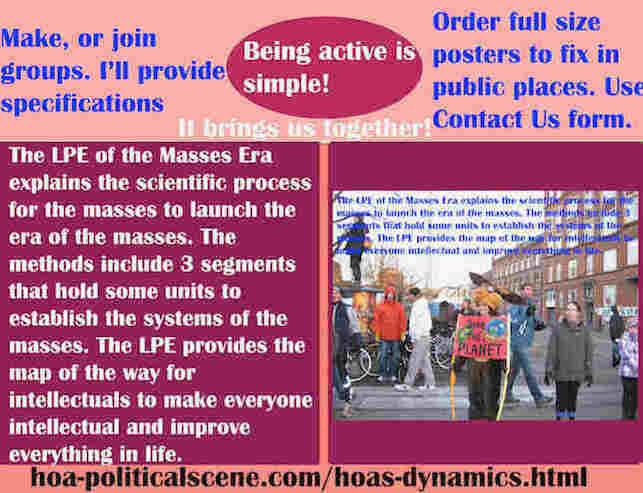 hoa-politicalscene.com/hoas-dynamics.html - Strategies & Tactics of HOA's Dynamics: LPE of the Masses Era explains scientific process for the masses to launch the era of the masses.