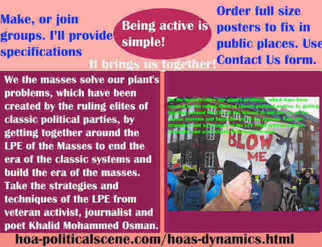 hoa-politicalscene.com/hoas-dynamics.html - Strategies & Tactics of HOA's Dynamics: We masses solve our plant's problems, which have been created by ruling elites of classic political parties, by LPE.