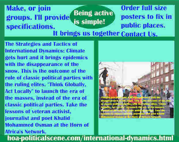 hoa-politicalscene.com/international-dynamics.html - Strategies & Tactics of International Dynamics: Climate gets hurt and it brings epidemics with the disappearance of the snow.