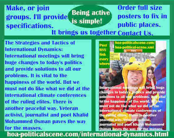 hoa-politicalscene.com/international-dynamics.html - Strategies & Tactics of International Dynamics: International meetings bring huge changes to today's politics & provide solutions to all problems.