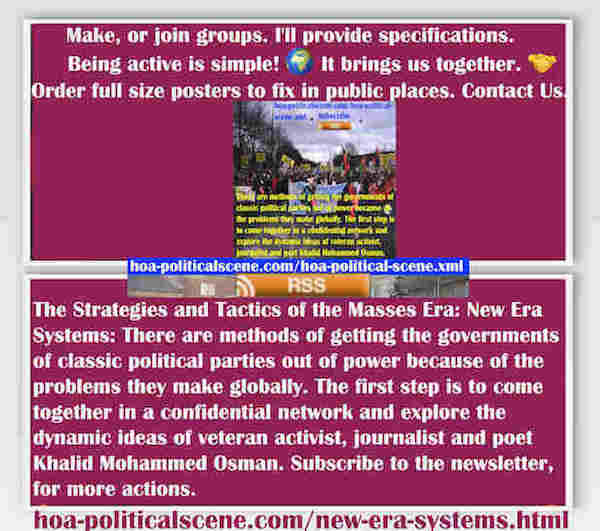 hoa-politicalscene.com/new-era-systems.html - The Strategies and Tactics of the Masses Era: New Era Systems: Methods to get classic political parties out of power out of power and build mass systems.