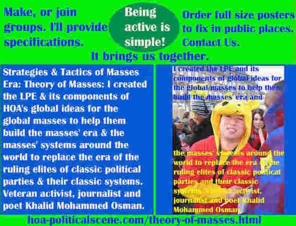 hoa-politicalscene.com/theory-of-masses.html - Strategies and Tactics of the Masses Era: Theory of Masses: I created Masses Era strategies & tactics for global masses to help them build masses era.