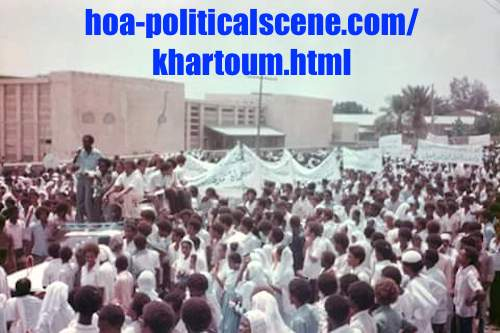 hoa-politicalscene.com/khartoum.html - Khartoum knows no secrets! A view from April uprising on the streets of Khartoum. Yes, it was that uprising which has turned into false revolution.