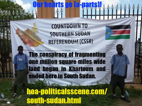 hoa-politicalscene.com - South Sudan: The conspiracy of fragmenting the one million square wide land began in the Khartoum in the North Sudan and ended in the South.