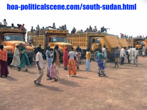 hoa-politicalscene.com - South Sudan: Southerners returning to the South Sudan from the North Sudan. Many of them are not willing to do so, but some how they are forced to do so.