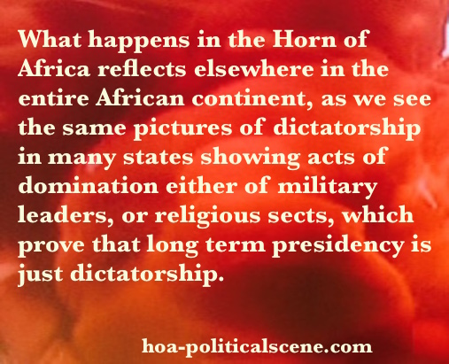 hoa-politicalscene.com - The Need to Lead: Reflect long term presidency and thus dictatorship.